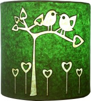 Craftter Bird On Tree Wall Lamp Table Lamp (Green)