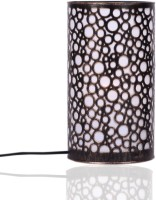 Height Of Designs Black Circles Table Lamp (27.94 Cm, Gold)