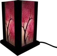 Huppme Gifts Pink Leaf Tree Table Lamp (19 Cm, Blue)