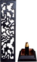 Hashcart Wooden Modern Designer Home Decor Floor Lamp (66.04 Cm, Black)