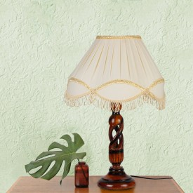 Yashasvi Veronica Beige White Table Lamp