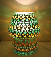 M.K. Lighting And Electrical Glass Table Lamp Mosaik 12 Table Lamp (17 Cm, Multi Color)