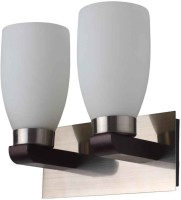 LeArc Contemporary Glass Metal Wood Wall Light WL1422 Wall Lamp (27 Cm, White)