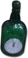VRCT Designer Green Textured Bottle Table Lamp (29.2 Cm, Green)