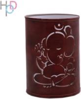 Height Of Designs Ganesha Night Lamp (15 Cm, Brown)