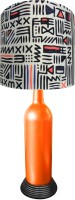 What Scrap Orange Bottle Aztec Table Lamp (50 Cm, Multicolor)