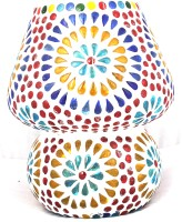 Lime Light Mosaic Decoratives LS08 Table Lamp (16.51 Cm, Multicolor)