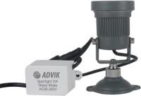 Advik Black Floor Lamp (White)
