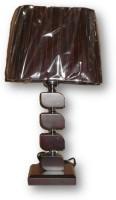 Sudesh Decor Brown Cube Shape Design Table Lamp Night Lamp (48 Cm, Brown)