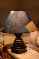 Yashasvi Geometrical Blues Table Lamp Table Lamp (27 Cm, Multicolor)