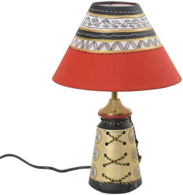 Aapno rajasthan hand painted shade with terracotta base for Table lamp flipkart