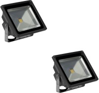 Ryna 50w LED Flood Light-White Colour-Pack Of 2 Piece Outdoor Lamp (27 Cm, White)