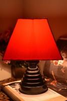 Yashasvi Aqua Red Table Lamp Table Lamp (28 Cm, Red)