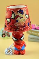 Enfin Homes Spider Man Table Lamp (34 Cm, Red)