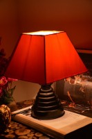 Yashasvi Orange Table Lamp Table Lamp (28 Cm, Orange)