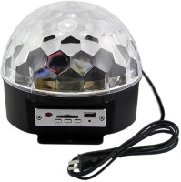 JM Crystal Magic Ball Light Table Lamp (14 Cm, Black)