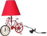 The Craz Me Lighten Up Your Time Vintage Cycle Table Lamp (40 Cm, Red)