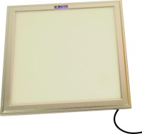 Renota Led Lightings Panel Light 24w Square Shape With Silver Frame Night Lamp (1.2 Cm, Warm White)