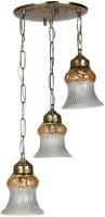Fos Lighting Triple Lustrous Antique Brass Hanging Light Night Lamp (60.9 Cm, Gold)