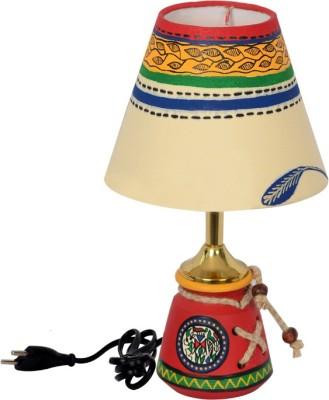 Exclusivelane inch terracotta warli handpainted baby lamp for Table lamp flipkart
