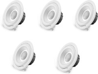 Corvi Corvi Led Spot 4S Round Warm White (5 Year Warranty)(Yellow)(3000K)(5 Pcs) Ceiling Lamp (5.6 Cm, White)