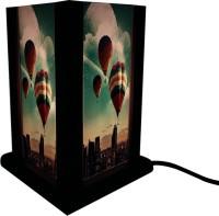 Huppme Gifts Hot Air Balloon Table Lamp Table Lamp (19 Cm, Blue)