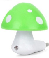 BEST DEAL Automatic Sensor Mushroom Night Lamp (7 Cm, GREEN)