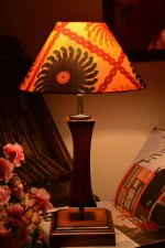 Yashasvi Table Lamps Yashasvi Sunflower Wooden Table Lamp