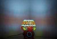 Smile2u Retailers Rajasthani Stone Mosaic Work Night Lamp (25 Cm, Multicolor)