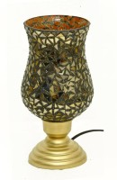 Asaura Table Lamp With Mosaic Glass Table Lamp (27 Cm, Gold)