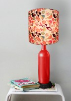 What Scrap Bottle Colorful Birds Table Lamp (50 Cm, Multicolor)