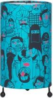 Chumbak Faces Of India Table Lamp (21 Cm, Blue)