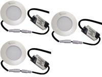 EPSORI 4Watt 6500k White Round Indoor Cosiva Led Down Light Set Of 3 Night Lamp (2.5 Cm, White)