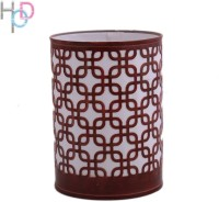 Height Of Designs Square Night Lamp (15 Cm, Brown)
