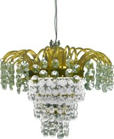 Prop It UP Crystal Chandelier Ceiling Lamp (25.5 Cm, Yellow, Crystal)