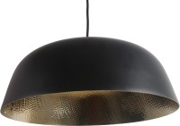 Ninety One Degree Open Round Hanging Black Ceiling Lamp (22 Cm, Black)