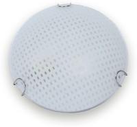 Fos Lighting Round Checkered Glass Small Night Lamp (7.6 Cm, White)