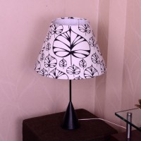 Craftter Hearts Black And White Metal Base Table Lamp (56 Cm, White, Black)