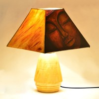 ExclusiveLane Lord Buddha Face Table Lamp (35.3 Cm, Brown, Yellow)