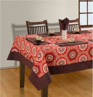 House This Red Organic Cotton Table Linen Set Pack Of 7