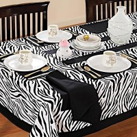 Swayam Black, White Organic Cotton Table Linen Set Pack Of 8