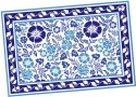 Ocean Collection Linen Flower Block Print Table Placemat - Pack Of 4 - TPMDZ5PV9CZAM4CY