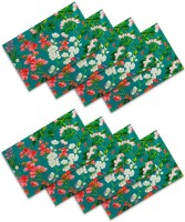 Sej By Nisha Gupta Rectangular Pack Of 8 Table Placemat Green, Cotton
