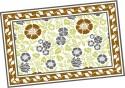 Ocean Collection Linen Flower Block Print Table Placemat - Pack Of 4 - TPMDZ5PVSZPZUCC5