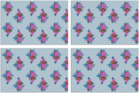 MeSleep Floral Pack Of 4 Table Placemat Multicolor, Polyester