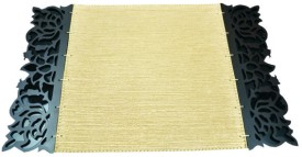 Dimensions PVC Medium Changing Mat Dimensions Laser Edged Koskin Leather Mats -Gold Streax