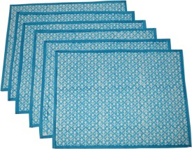 Raaga Textiles Square Pack of 6 Table Placemat