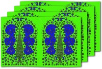 MeSleep Green Blue Table Placemat (Pack Of 4)