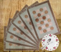 Decor Bazaar Metal Beauty Pack Of 6 Table Placemat Gold, PVC