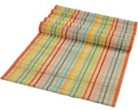 Rope Internaional Multi Stripe Banana Fiber Pack Of 6 Table Placemat Multicolor, River Grass